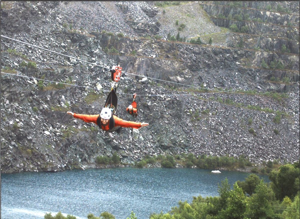 """26th """"thing"""" achieved: 26. Zip Wire in Snowdon – 40 things…"""